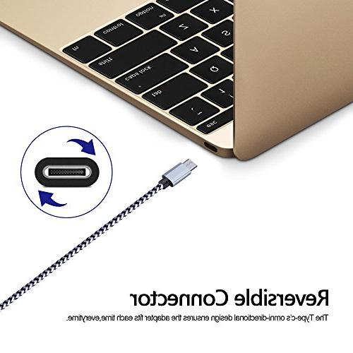 USB Cable, Sicodo 5-Pack USB Nylon Braided Compatible with MacBook, S9, Google Pixel XL, LG V20, 6P 5X, Oneplus More