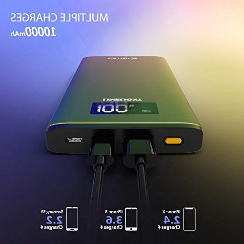USB C Omars Charger with Power Delivery Battery Pack Phone Charger iPhone Xs/XR/XS Max/X 8, iPad Pro, S9, Green