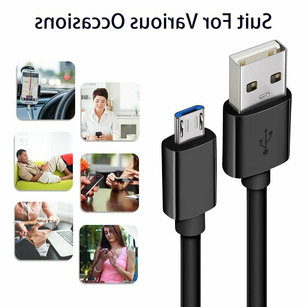 USB Cable, Pack 6ft+10ft Android Fast Charger Samsung