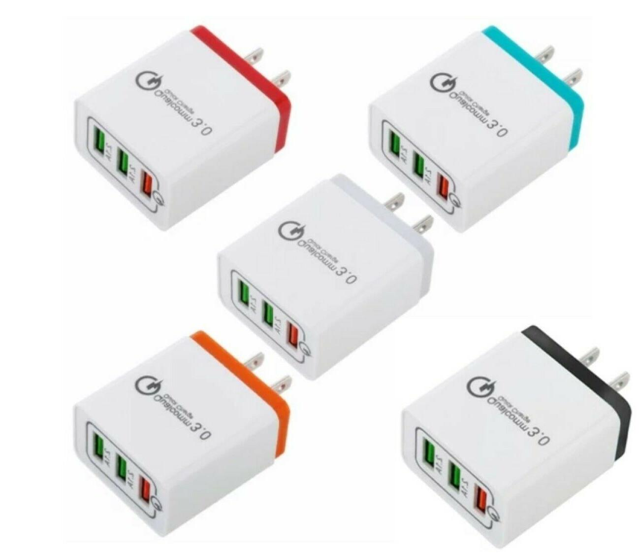 3 Port Wall Charger 3.0 for iPhone Phone Samsung