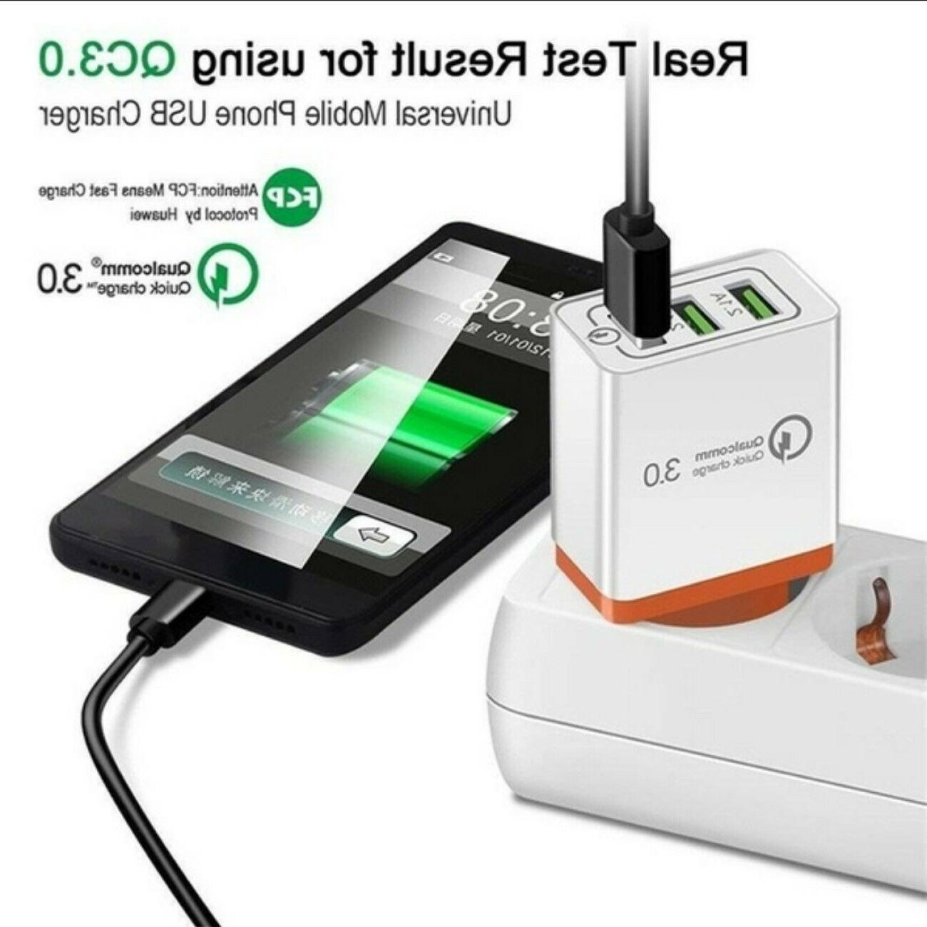 3 Home Wall Fast Charger 3.0 iPhone Phone Samsung