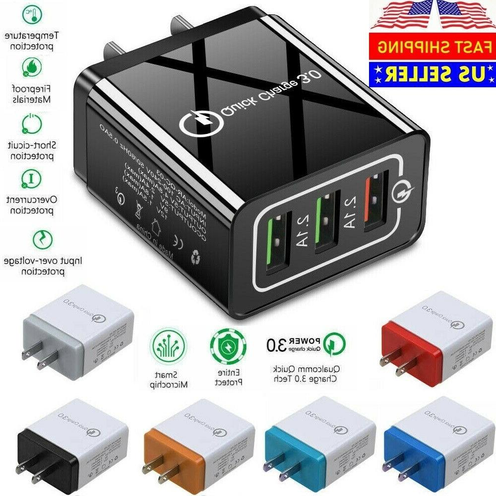 usb quick fast charger hub wall charger