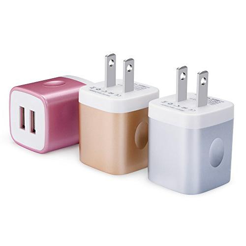 usb wall charger usb cubes 3 pack