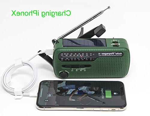 Best Portable Solar/Hand Crank & NOAA Weather Emergency Radio with USB Charger