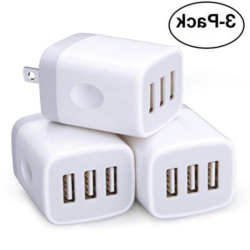 wall charger 3 pack 3 muti port