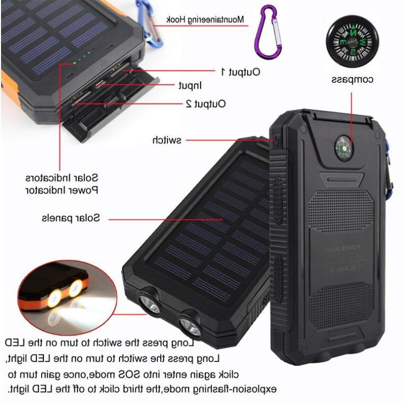 2020 900000mAh USB Portable Solar Solar Power