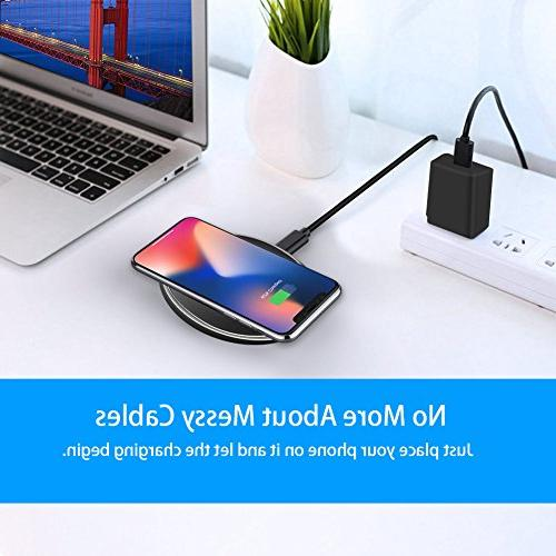 Wireless Slim Fast for iPhone X, iPhone 8/8 S9/S9 Plus/ Note 8/5/S7/S7 Edge