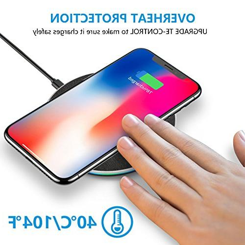 GETIHU Qi-Certified Charging Station with iPhone Max/XS/XR/X/8/8 10W Compatible Galaxy 9/S8/S8+/Note 8 and More