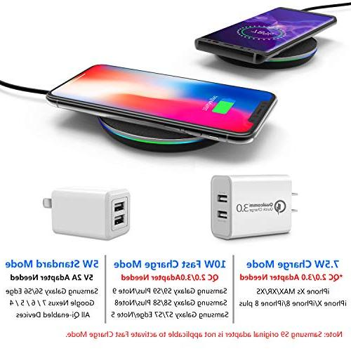 GETIHU Qi-Certified Phone Station 7.5W Compatible iPhone Xs Max/XS/XR/X/8/8 10W with Samsung Galaxy S9/S9+/Note 9/S8/S8+/Note