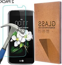 LG K10 Tempered Glass Screen Protector, Asstar 0.26mm 2.5D H