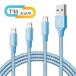 Lightning Cable BUDGET & GOOD Charger Cable 3 Pack 6FT Charg