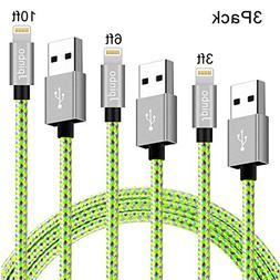 lightning cable Jpinbo iphone chargers 3Pcs 3ft/6ft/10ft Ext