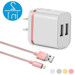 2in1  3Ft Lightning Cable/Cord + Dual Port USB Wall Charger