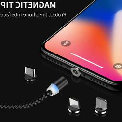 Magnetic Cable 3 IN 1 Micro USB Cable Type C For iPhone X 7