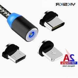 Magnetic Micro USB Cable For iPhone 6 7 X <font><b>Samsung</