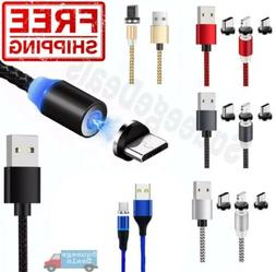 Magnetic Phone Charger Cable 1m 2M Lightning Type-C Micro US