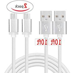 Micro USB Android Charger Cord  Fast Quick Charge Cable Long