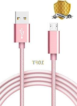 Micro USB Cable, Linwood Nylon Braided Android Charger Cord