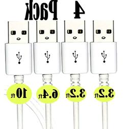 Micro USB Cables  2x3.2FT+6.4FT+10FT iBarbe Android Fast Cha