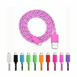 Micro USB Charger, Eversame 10-Pack Colorful 3Ft 1M Nylon Br