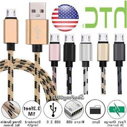 Micro USB Charging Phone Data Sync Charger Cable For HTC Des