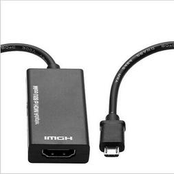Micro USB to HDMI TV Out HDTV MHL Adapter Cable for Phone/Ta
