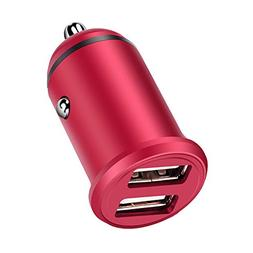 Mini Car Charger,Sicodo 24W/4.8A Dual USB Port Quick Car Cha