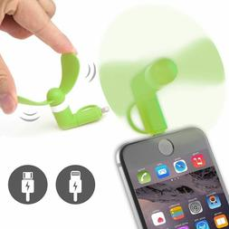 Mini USB Fan, for iPhone 5/5s/6/6S/ ANDROID Plug & Play Spor