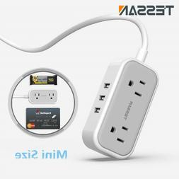 Multi Plug Outlet Extender 3USB Phone Charger Power Strip fo