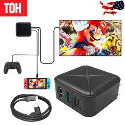 New HDMI TV Docking Station AC Power Supply Adapter For Nint