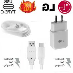 Original LG Rapid Fast USB Wall Charger Type C Cable For LG