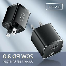 INIU PD Charger 20W Quick Charge 4.0 3.0 USB Type C QC Fast