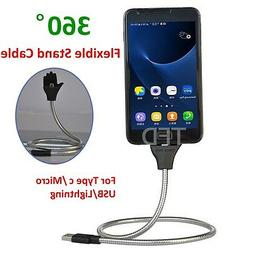 Phone Charger Flexible Stand up Data Cable Charge+Coiled Hol