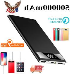 Portable Power Bank 500000mAh 2 USB LCD External Battery Cha