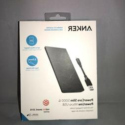 Anker PowerCore Slim 5000 Portable Charger Super 5000mAh Ext