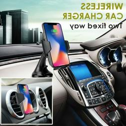 Qi Wireless Car Charger Air Vent Holder Mount Charging For i