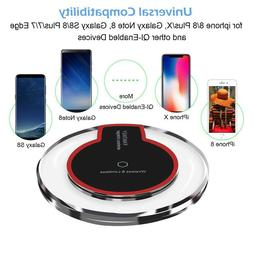 QI Wireless Car Charger Holder Stand Phone Cup For iPhone X