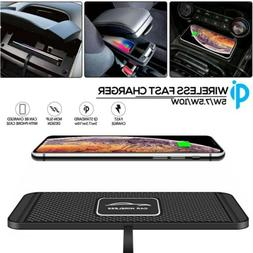 QI Wireless Car Phone Charger Fast Charging Pad Mat For iPho