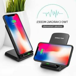 Qi Wireless Charger 10W 7.5W Fast Charging Dock Stand For i