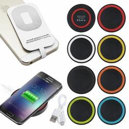 Qi Wireless Charger Charging Pad + Receiver For iPhone 7 7Pl
