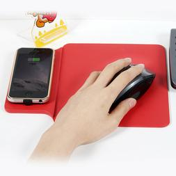 Qi Wireless Charger Mouse Pad Mat Phone Holder For iPhone 8