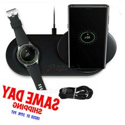 QI Wireless Phone + Watch Charger For Samsung Duo Dock Dual