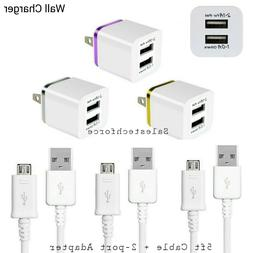 Rapid Fast Wall Charger +5ft Micro USB Cable Cord4 Samsung N