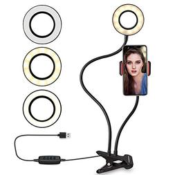 Ring light with cell phone holder stand for Live Stream, AUR
