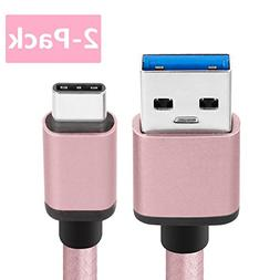 Samsung Galaxy S8 Charger Cable, BeneStellar 2-Pack 5ft / 1.