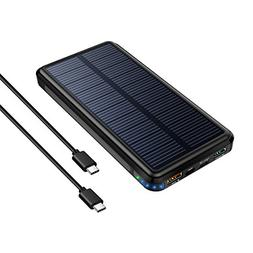 Solar Charger,24000mAh Solar Power Bank with QC 3.0 and Type