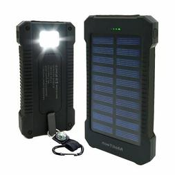 Levin 6000mAh Solar Panel Dual USB Port Portable Charger for