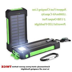 Solar Portable Charger iPhone Power Bank Cell Phone Military