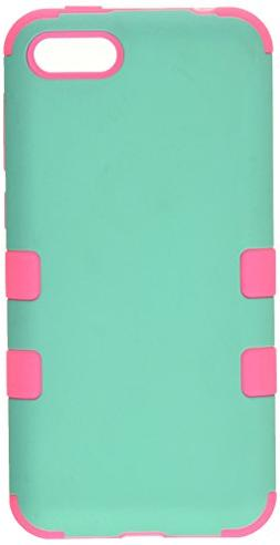 Teal Green/Electric Pink Case +Silicone Hybrid TUFF Cover fo
