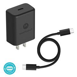 Motorola TurboPower 27 PD Charger w/ 1m  USB-C to C Cable fo